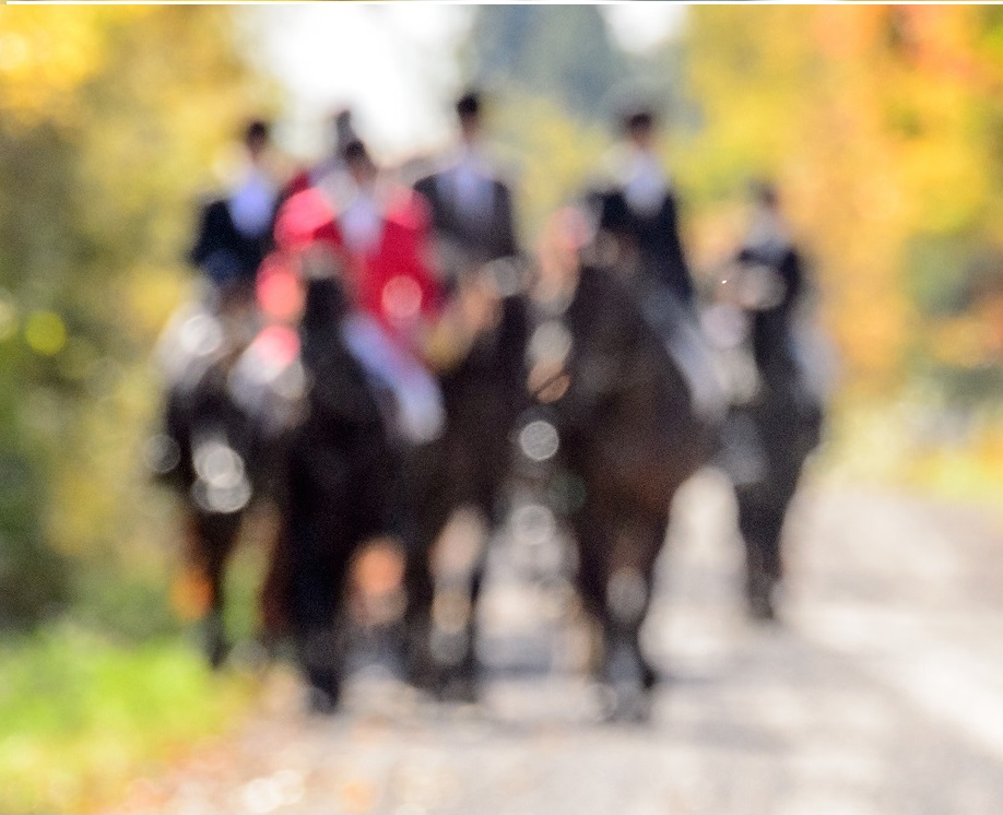 hunt riders blurred